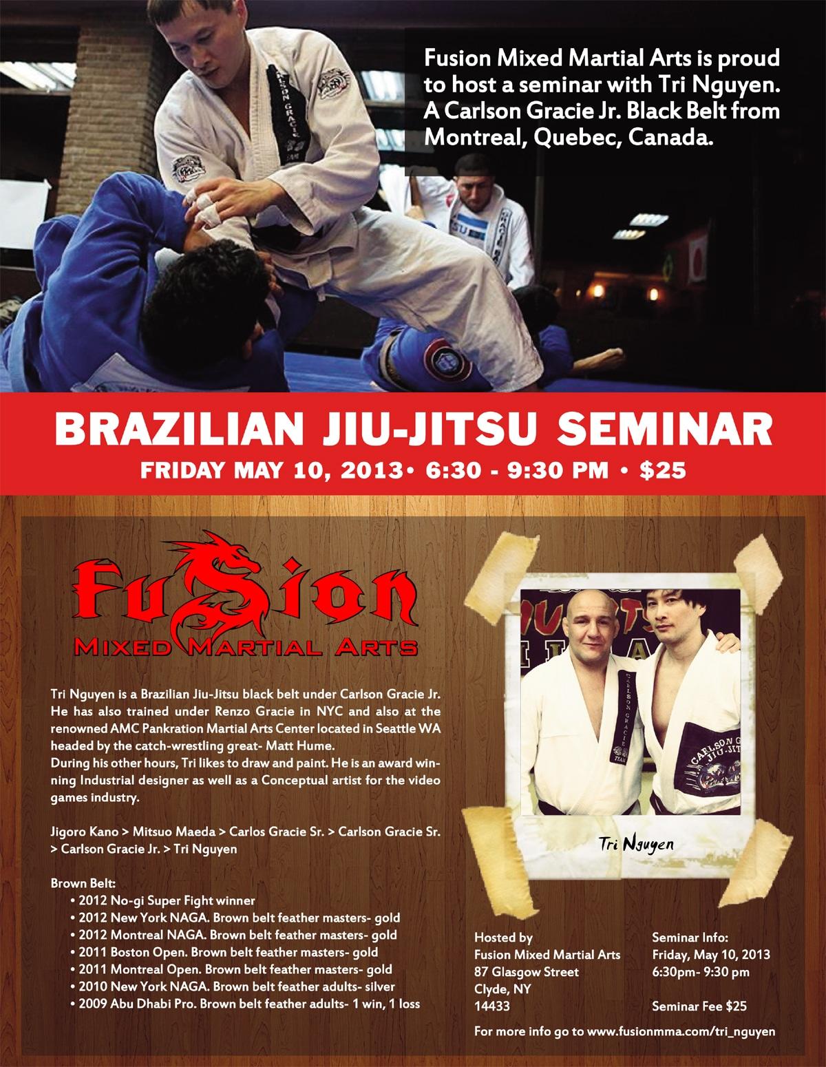 Brazilian Jiu-Jitsu Seminar Flyer