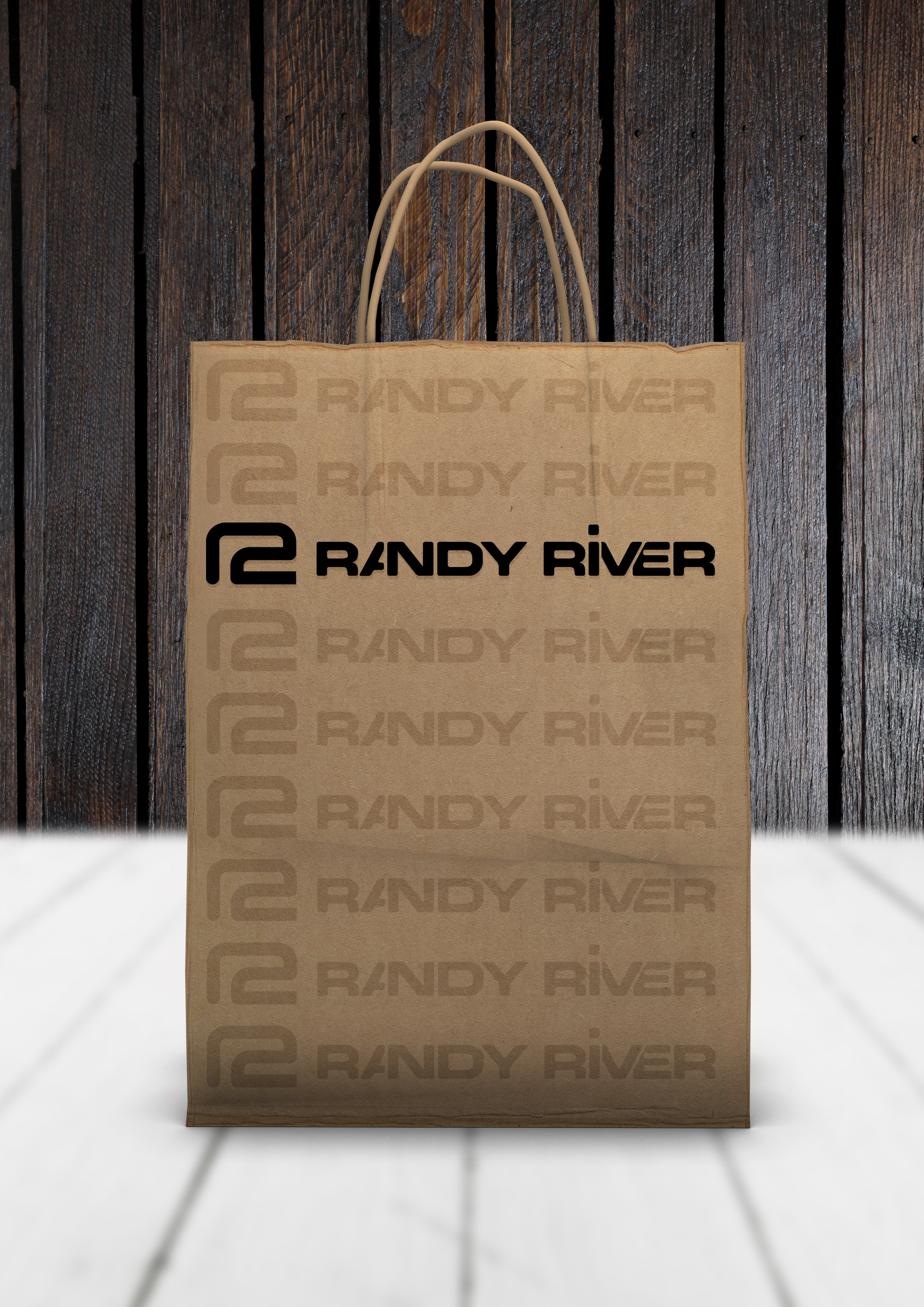 Randy River Paper Shopping Bag